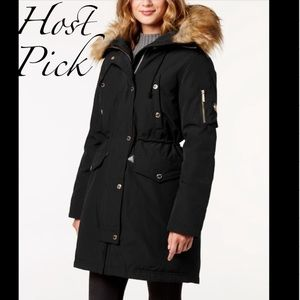 MICHAEL Michael Kors Jackets & Coats - Michael Kors faux fur trim Hooded Parka🖤